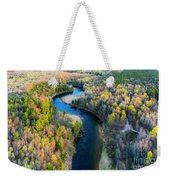 Manistee River From Above In Spring Weekender Tote Bag