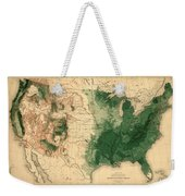 Map Of American Forests 1883 Weekender Tote Bag
