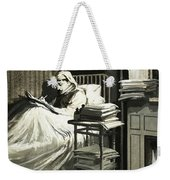 Marcel Proust Sat In Bed Writing Remembrance Of Things Past Weekender Tote Bag