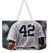 Mariano Rivera  New York Yankees Abstract Art 1 Weekender Tote Bag