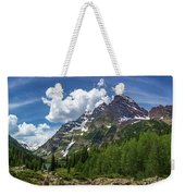 Maroon Bells And Crater Lake Panorama Weekender Tote Bag by Andy Konieczny