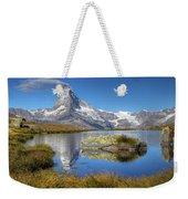 Matterhorn From Lake Stelliesee 07, Switzerland Weekender Tote Bag