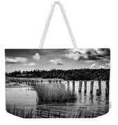 Mccormack's Beach Provincial Park, Black And White Weekender Tote Bag