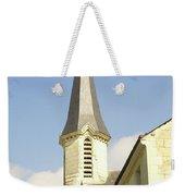 medieval church spire in France Weekender Tote Bag