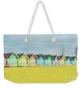 Mersea Island Beach Hut Oil Painting Look 1 Weekender Tote Bag