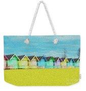 Mersea Island Beach Hut Oil Painting Look 2 Weekender Tote Bag