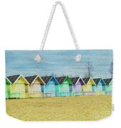 Mersea Island Beach Hut Oil Painting Look 3 Weekender Tote Bag