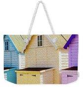 Mersea Island Beach Hut Oil Painting Look 6 Weekender Tote Bag
