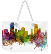 Miami Florida Skyline Panoramic Weekender Tote Bag