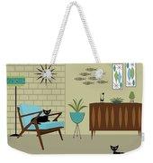 Mid Century Modern Room Weekender Tote Bag by Donna Mibus