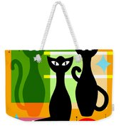 Mid Century Modern Abstract Mcm Bowling Alley Cats 20190113 Square Weekender Tote Bag