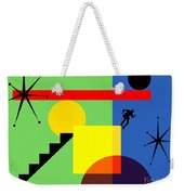 Mid Century Modern Abstract Over The Edge 20190106 Horizontal Weekender Tote Bag