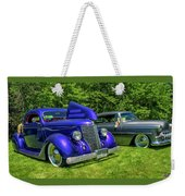 Mild Customs 1936 Ford And 1953 Chevy Weekender Tote Bag
