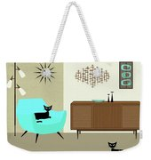 Mini Fish Art Aqua Chair Weekender Tote Bag