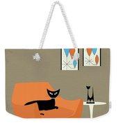 Mini Gravel Art Orange Chair Weekender Tote Bag