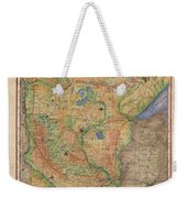 Minnesota Historic Wagon Roads Hand Painted Weekender Tote Bag