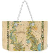Mississippi River Historic Map Lousiana New Orleans Baton Rouge Map Farming Plantation Hand Painted  Weekender Tote Bag