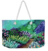 Misty Garden Path Weekender Tote Bag by Jacqueline Athmann