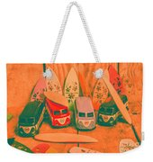 Modelling A Surfing Vacation Weekender Tote Bag