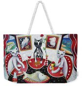 Monaco Cats Red Weekender Tote Bag