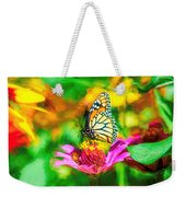Monarch Butterfly Impasto Colorful Weekender Tote Bag by Don Northup