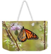 Monarch Butterfly On Thistle 2 Weekender Tote Bag