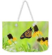 Monarch On Wildflowers Weekender Tote Bag