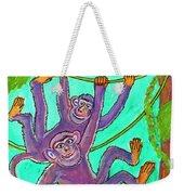 Monkeys On Creepers Weekender Tote Bag
