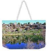 Montezuma's Well Az Water Blue Sky Reflections Stone Wall 3192019 5253. Weekender Tote Bag