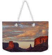 Monument Valley Sunset Weekender Tote Bag