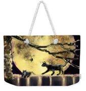 Moon Cats Weekender Tote Bag