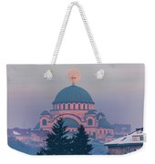 Moon In The Cross Of The Magnificent St. Sava Temple In Belgrade Weekender Tote Bag