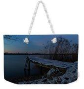 Moonlight Over The Lake Weekender Tote Bag by Davor Zerjav