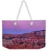 Moonrise Over The Hoodoos Bryce Canyon National Park Utah Weekender Tote Bag by Dave Welling