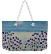 Moonshadow Flower Field Weekender Tote Bag by Kim Nelson