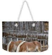Horses By The Barn Sugarbush Farm Weekender Tote Bag
