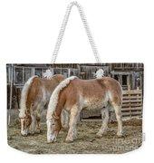 Morgan Horses By The Barn Weekender Tote Bag