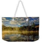 Morning Mist, Wildlife Pond  Weekender Tote Bag by Jeff Sinon