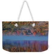 Morning Misty Reflection Of Eaton Church Weekender Tote Bag by Jeff Folger