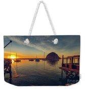 Morro Bay Harbor Sunset Weekender Tote Bag
