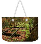 Mossy Train Track In Fall Weekender Tote Bag
