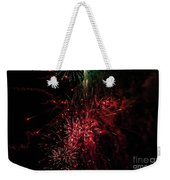 Mostly Red And White Fireworks Weekender Tote Bag