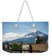 Mount Fuyji From A Distance With Clouds Around It Weekender Tote Bag