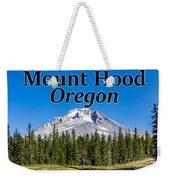 Mount Hood Oregon In Fall Weekender Tote Bag