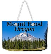 Mount Hood Oregon In Fall Weekender Tote Bag