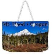 Mount Hood Oregon In Winter 01 Weekender Tote Bag