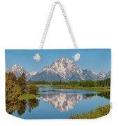 Mount Moran On Snake River Landscape Weekender Tote Bag