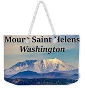 Mount Saint Helens Washington Weekender Tote Bag