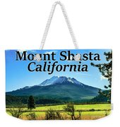 Mount Shasta California Weekender Tote Bag