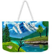 Mountain By The Lake Weekender Tote Bag